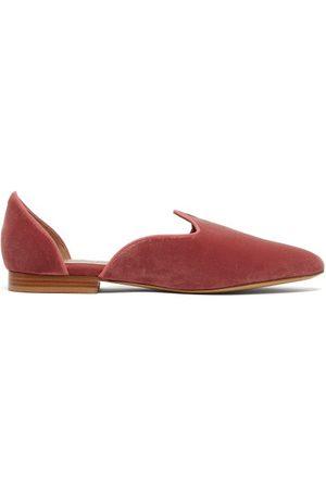 Le Monde Beryl Chaussures plates vénitiennes en velours d'Orsay
