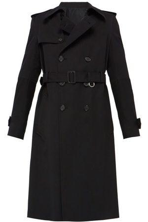 Alexander McQueen Trench-coat en sergé de coton et laine ceinturé