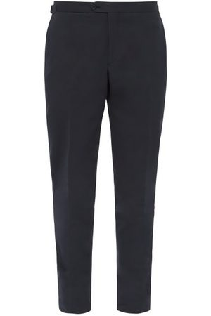Thom Sweeney Pantalon habillé en sergé de coton ajusté