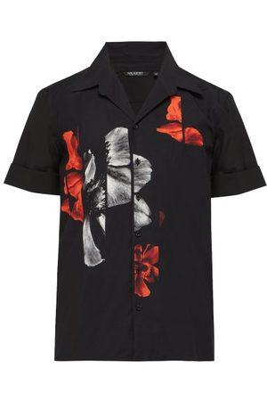 Neil Barrett Chemise hawaïenne en coton à imprimé anémone