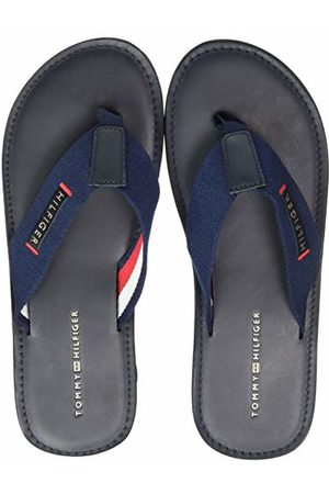 Tommy Hilfiger Elevated Leather Beach Sandal Tongs Homme, (Midnight 403) 46 EU