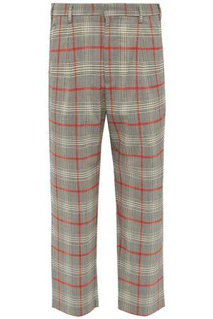 BARENA Pantalon en laine mélangée motif Prince de Galles
