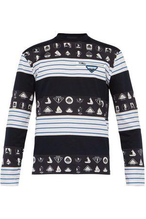 Prada T-shirt manches longues en coton à motif nautique