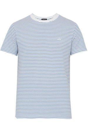 A.P.C T-shirt en piqué de coton rayé Baptiste