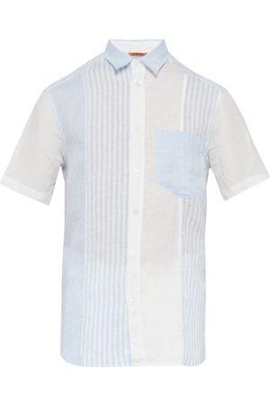 BARENA Chemise manches courtes à rayures contrastantes