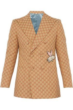 Gucci Blazer en coton mélangé à motif GG et porcelet