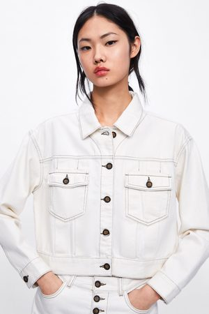 Zara Cropped jacket with contrast piping