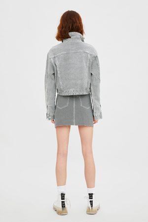 Zara Jupe en jean pied-de-poule