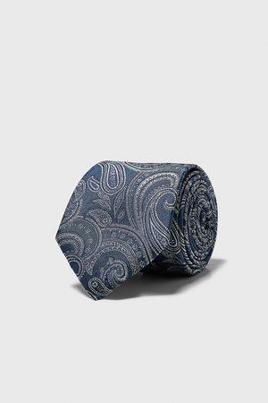 Zara Cravate large en jacquard à rayures