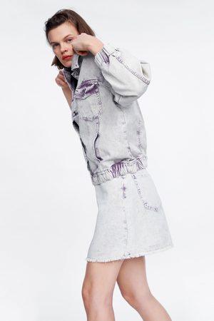 Zara Mini jupe en jean effet délavé