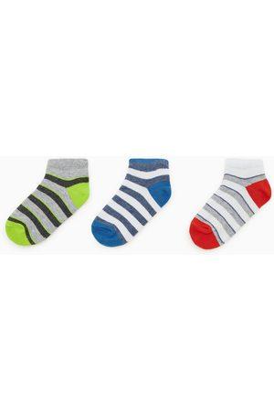 Zara Lot de trois paires de socquettes à rayures