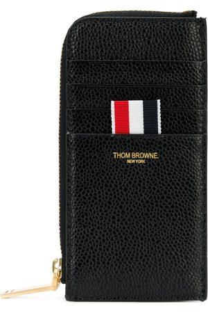 Thom Browne Porte-cartes zippé à détail tricolore