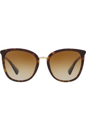Bvlgari Oversized tortoiseshell sunglasses