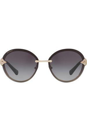 Bvlgari Crystal embellished round frame sunglasses