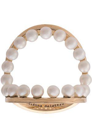 DELFINA DELETTREZ Bagues à détails de perles