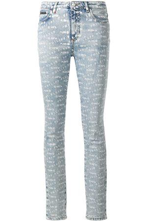 Philipp Plein Femme Skinny - Jean skinny à logo imprimé