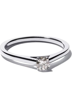De Beers Bague My First DB Classic Solitaire en platine et diamants