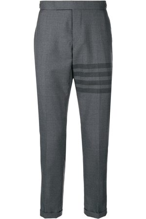 Thom Browne Pantalon skinny à détail rayé