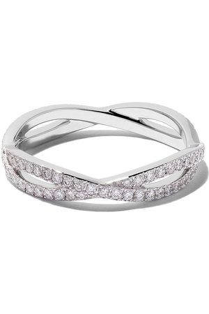 De Beers Bague Infinity en or blanc 18ct et diamants
