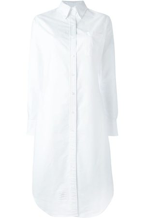 Thom Browne Robe-chemise à ourlet incurvé