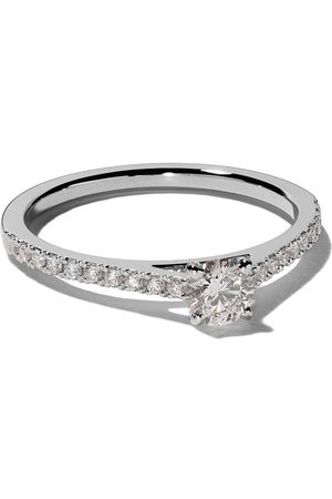 De Beers Bague DB Classic en platine et diamants