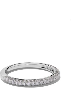 De Beers Bague DB Darling Half Pavé Eternity en or blanc 18ct et diamants