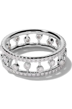 De Beers Bague Dewdrop en or blanc 18ct et diamants