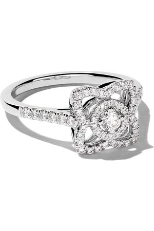 De Beers Bague Enchanted Lotus en or blanc 18ct et diamants