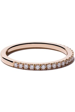De Beers Bague DB Classic Half Pavé en or rose 18ct et diamants