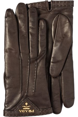 Prada Femme Gants - Gants en cuir à empiècement contrastant