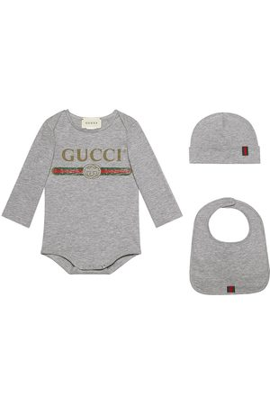 Gucci Baby Gucci logo cotton gift set