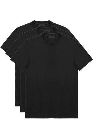 Prada Lot de trois t-shirts à col ras du cou