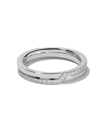 De Beers Bague Promise Have Pavé en or blanc 18ct et diamants