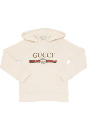 Gucci Sweat-shirt À Capuche En Coton Imprimé