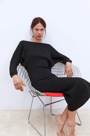 Zara Robe longue côtelée