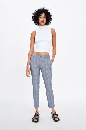 Zara Pantalon de jogging à carreaux
