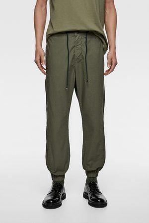 Zara Pantalon de jogging en popeline