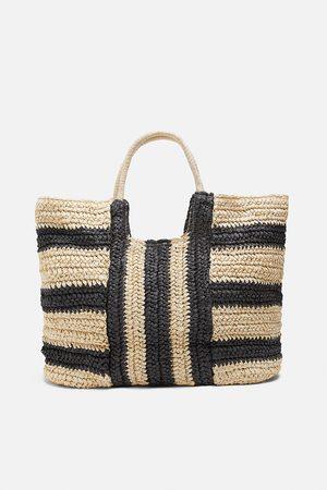 Zara Femme Cabas - Sac shopper naturel