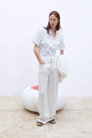 Zara Pantalon large en lin
