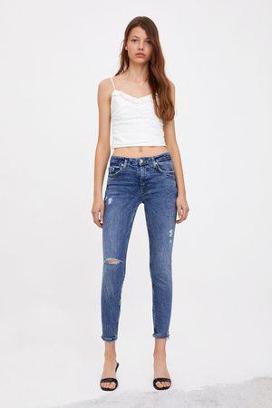 Jean Skinny Mi Haute Déchiré Taille Compact 34Aj5qRL