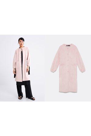 Zara Manteau effet daim à poches