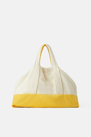 Zara Sac shopper maxi en tissu éponge