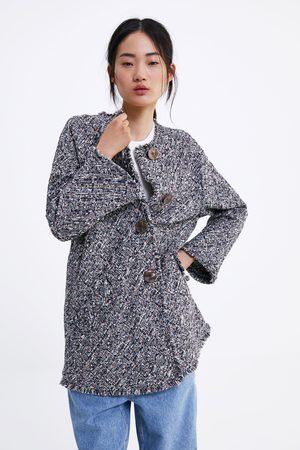Zara Manteau en tweed à boutons