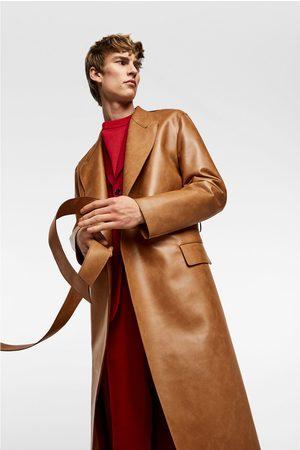 Zara Trench en cuir synthétique bicolore