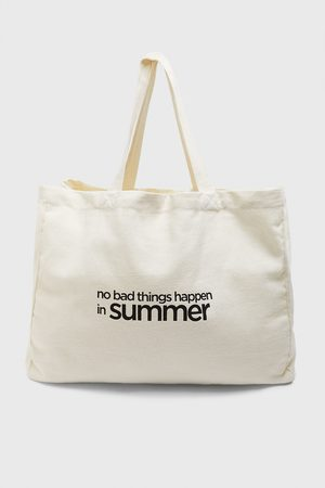 Zara Sac shopper avec inscription