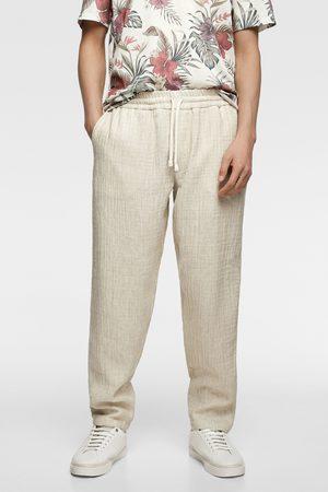 Zara Pantalon de jogging brut
