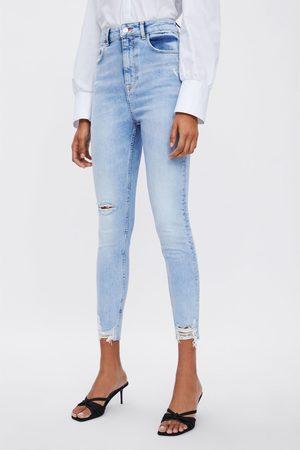 Zara Jean z1975 taille haute skinny à déchirures