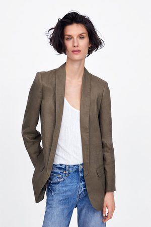 Zara Veste en lin à poches