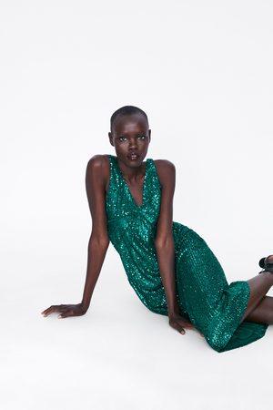 Zara Robe à paillettes et surpiqûres