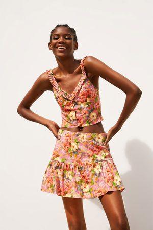 Zara Jupe-short imprimée à fleurs